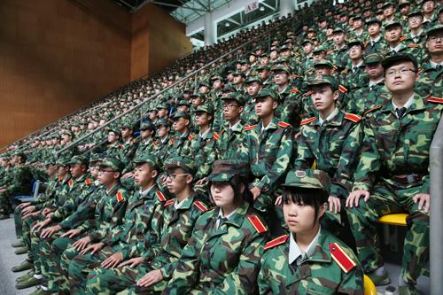 2014级本科生开学典礼暨军训动员大会举行