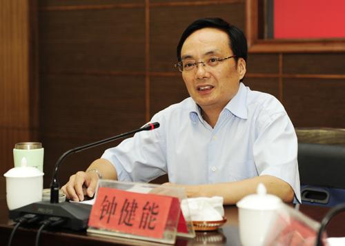 陕西省委组织部副部长钟健能为我校大学生做